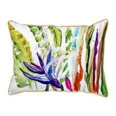 Abstract Bird Of Paradise Large Pillow 16X20