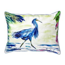 Blue Egret Large Pillow 16X20