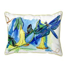 Yellow Bells & Dragonfly Large Pillow 16X20