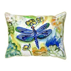 Dragonfly'S Garden Large Pillow 16X20