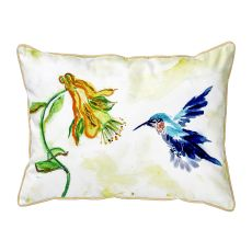 Hummingbird & Yellow Flower Large Pillow 16X20