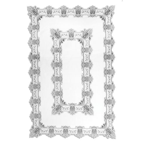 Heirloom 70X108 Rectangle Tablecloth, White