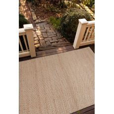 Naturals Solid Pattern Taupe/Ivory Jute And Rayon Area Rug (9X12)
