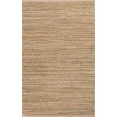 Naturals Solid Pattern Green/Taupe Jute And Cotton Area Rug (8X10)