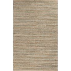 Naturals Stripes Pattern Taupe/Green Jute And Cotton Area Rug (8X10)