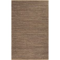 Naturals Stripes Pattern Taupe/Black Jute and Rayon Area Rug (8x10)