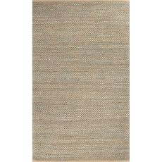 Naturals Stripes Pattern Taupe/Blue Jute And Rayon Area Rug (9X12)