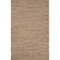 Naturals Chevrons Pattern Taupe/Tan Jute And Rayon Area Rug (8X10)