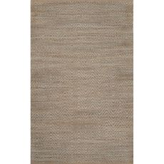 Naturals Chevrons Pattern Blue Jute And Rayon Area Rug (8X10)
