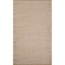 Naturals Tribal Pattern Ivory/White Jute And Rayon Area Rug (8X10)