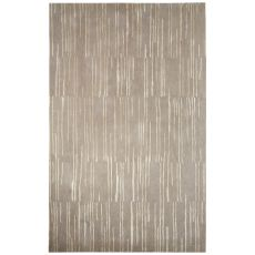 Contemporary Abstract Pattern Gray/Ivory Wool and Art Silk Area Rug (8x10)