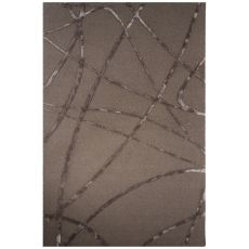 Contemporary Abstract Pattern Gray Wool And Art Silk Area Rug (8X10)