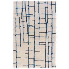 Abstract Pattern Wool And Viscose Hollis Area Rug