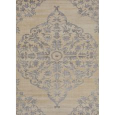 Medallion Pattern Wool And Viscose Heritage Area Rug