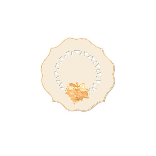 "Harvest Sheer 12"" Round, Cream"
