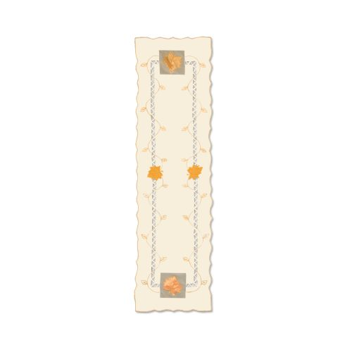 Harvest Sheer 15X72 Table Runner, Cream