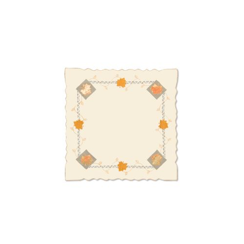 Harvest Sheer 34X34 Table Topper, Cream