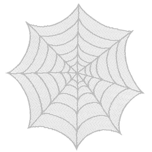 "Spider Web 20""Round Doily, Ghostly Gray"