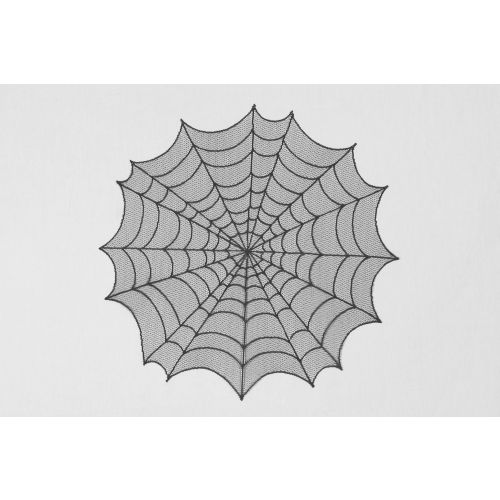 "Spider Web 30"" Round Table Topper, Black"