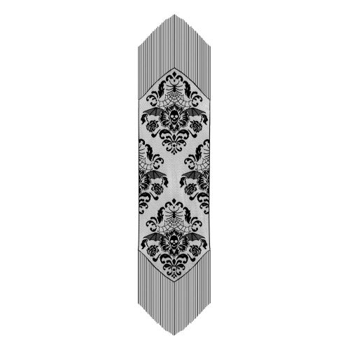 Halloween Damask 15X68 Table Runner
