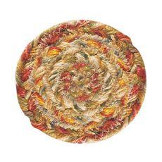 "Homespice Decor 4"" Coaster Round Harvest Jute Braided Accessories"