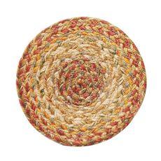 "Homespice Decor 8"" Trivet Round Harvest Jute Braided Accessories"