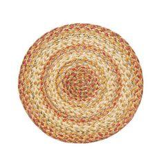 "Homespice Decor 15"" Trivet Round Harvest Jute Braided Accessories"