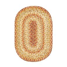 "Homespice Decor 13"" x 19"" Placemat Oval Harvest Jute Braided Accessories"