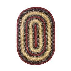 "Homespice Decor 20"" x 30"" Oval Highland Jute Braided Rug"