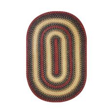 Homespice Decor 4' x 6' Oval Highland Jute Braided Rug
