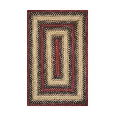 Homespice Decor 6' x 9' Rect. Highland Jute Braided Rug