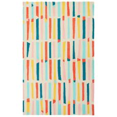Tribal Pattern Polyester Iconic By Petit Collage Area Rug