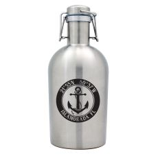 Custom Coordinates Anchor Stainless Steel Beer Growler