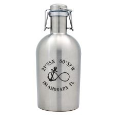 Custom Coordinates Infinity Anchor Stainless Steel Beer Growler