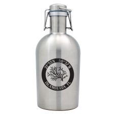 Custom Coordinates Coral Stainless Steel Beer Growler
