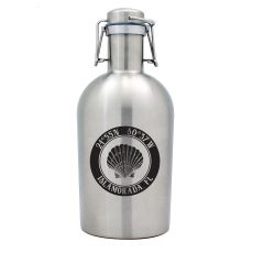 Custom Coordinates Seashell Stainless Steel Beer Growler