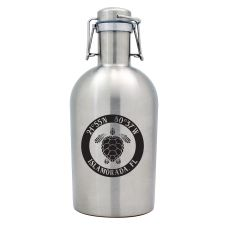 Custom Coordinates Sea Turtle Stainless Steel Beer Growler