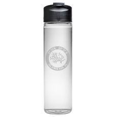 Custom Coordinates Coral Travel Water Bottle