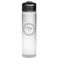 Custom Coordinates Flamingo Travel Water Bottle