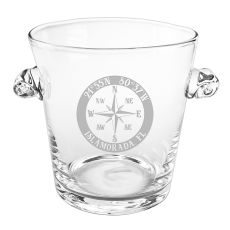 Custom Coordinates Compass Rose NSEW Scroll Handle Ice Bucket
