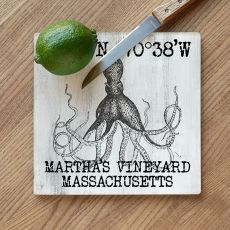Custom Coordinates Vintage Octopus Cutting Board