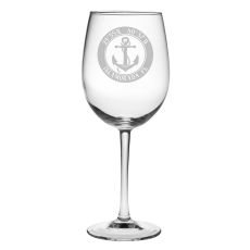 Custom Coordinates Anchor All Purpose Wine Glasses S/4