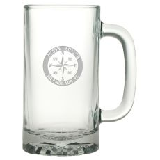 Custom Coordinates Compass Rose Pub Beer Mug S/4