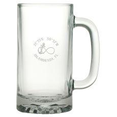 Custom Coordinates Infinity Anchor Pub Beer Mug S/4