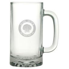 Custom Coordinates Seashell Pub Beer Mug S/4