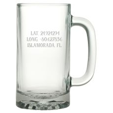 Custom Latitude Longitude Pub Beer Mug S/4