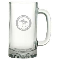 Custom Coordinates Flamingo Pub Beer Mug S/4