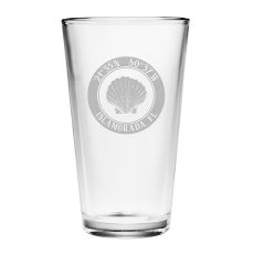 Custom Coordinates Seashell Pint Glasses S/4