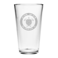 Custom Coordinates Sea Turtle Pint Glasses S/4