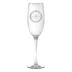 Custom Coordinates Compass Rose Flute Glasses S/4